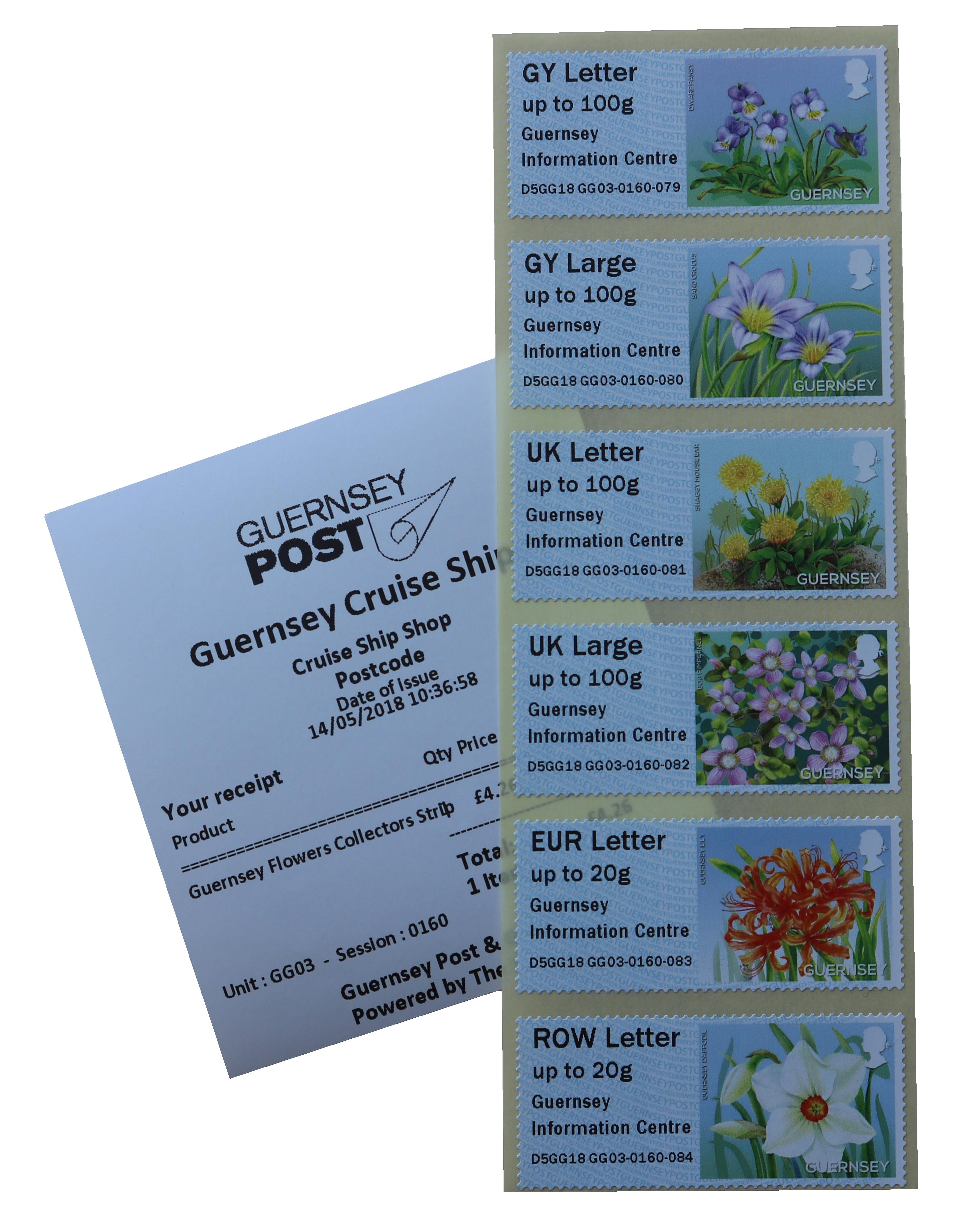 G Series Guernsey Information Centre Bailiwick Flowers locator overprint